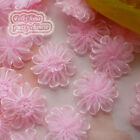 Pink Organza Chrysanthe​mum Flower 25mm Sewing Scrapbooking Trim Appliques JMOS