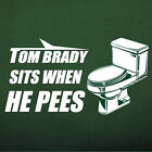 New York Jets TOM BRADY SITS WHEN HE PEES t-shirt football jersey funny rude NEW