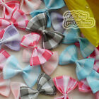 Mixed Grosgrain Bows Scotish 30mm Appliques Scrapbooking Cardmaking Trimming BK