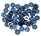 10, 20 or 50 Small navy blue shirt buttons with 4 holes *UK SELLER*