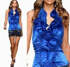 Lady Cocktail Evening Party&Casual Bridesmaid Ruffle Halter Top Shirt Plus 1877
