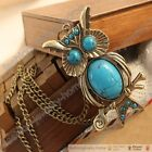 Cuite Turquoise Owl Green Big Eyes Pendant Necklace Fashion