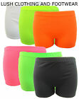 BLACK, WHITE AND NEON HOT PANTS SHORTS TUTU DANCE/ CLUBWEAR / PARTY-SIZE 8-14