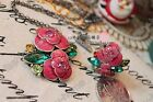 Fashion Dazzling Multicolou Crystal Butterful Flower Necklace