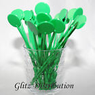 "7"" GREEN COCKTAIL STIRRERS SWIZZLE STICKS PACK 10,25,50,100,250, 500"