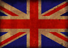 Vintage Old Distressed Union Jack Shabby Chic Print Poster or Canvas Style 2