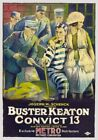 Vintage Old Movie Poster Convict 13 1920 Print Art A4 A3 A2 A1