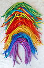 FAIR TRADE LONG FELT ELASTIC HAIR SCRUNCHY EXTENSIONS DREADLOCKS 12 BEADED KNOTS