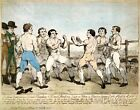DRAWING OF A BOXING MATCH, 1788 REPRODUCTION ART PRINT CANVAS A1 A2 A3 A4