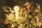 The Quarrel Of Oberon And Titania Joseph Noel Paton Art Print A4 A3 A2 A1