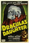 DRACULA'S DAUGHTER 04 B-MOVIE REPRODUCTION ART PRINT A4 A3 A2 A1
