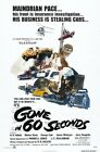 GONE IN 60 SECONDS B-MOVIE REPRODUCTION ART PRINT A4 A3 A2 A1