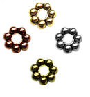 SPACER BEADS DAISY 5mm BALI RONDELLE METAL 100pc