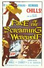 Vintage B Movie Poster Face Of Screaming Werewolf Print Art A4 A3 A2 A1