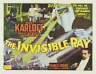 THE INVISIBLE RAY 01 VINTAGE B-MOVIE REPRODUCTION ART PRINT A4 A3 A2 A1