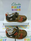 "Clarks First Shoes Boys Brown Trainer/Sandal ""SOFTLY SAY FST"" ""G""-Fitting"
