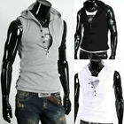 Mens Casual Slim Fit hoody sleeveless Tee Shirt T-shirt H683 3Size 5color