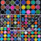 Colors Metal Shiny Big Hexagon Strip Glitter Nail Acrylic UV Art Powder Dust Set