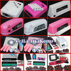 36W 9W Dryer Lamp Electric Nail File Drill Machine Nail Art Dust Suction Kit Tip