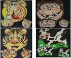 4 Childrens Place Mats & Coasters Monkey Giraffe Cow or Tiger sets FREE POSTAGE
