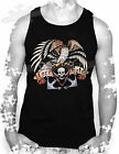 EAGLE,ANCHOR,LOVE HATE,TATTOO,ROCKABILLY,BIKER,STYLE MENS VEST TOP,S- XXL