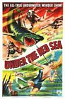 UNDER RED SEA 01 VINTAGE B-MOVIE REPRODUCTION ART PRINT A4 A3 A2 A1