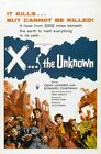 X THE UNKNOWN 01 CLASSIC B-MOVIE REPRODUCTION ART PRINT A4 A3 A2 A1