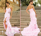 New long Wedding Bridal Prom Gown Bridesmaid Evening Party Formal Dress All Size
