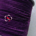 "3mm 1/8"" Violet Velvet Ribbons Craft Sewing Trimming Scrapbooking #90"