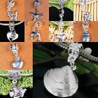 18KGP Silver Plated Crystal Animal Fruit Charm European Dangle Bead Fit Bracelet