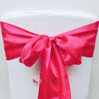 Fuchsia Satin Chair Cover Bow Sash Wedding Party Decor Banquet WED-SCS-89