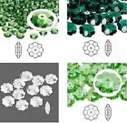 Swarovski Marguerite Flower Crystal Beads 6-12mm Fern, Emerald, Clear, Peridot
