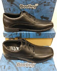 "Bootleg by Clarks Senior Boys Black Laced Gibson ""BRADFORD BL"""