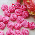 Deep Pink 15mm Polyester Rose Trimming Sewing Scrapbooking Appliques HB15-156