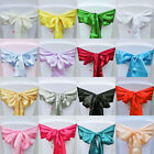 1Pcs Satin Chair Cover Bow Sash Wedding Party Decor Banquet WED-SCS