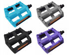 "BMX MOUNTAIN MTB FIXIE BIKE BICYCLE PLASTIC PLATFORM PEDALS 9/16"", PAIR, NEW UK"