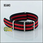 G10 NATO Military style Watch Strap Red & Black Stripe