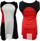 NEW WOMENS PLUS SIZE MULTI COLOR BLOCK GOING OUT DRESS LADIES PARTY DRESS 16-26