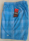"Brand New Mens Speedo Check Leis 18"" Water Shorts Swim Blue / White Watershorts"