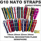 G10 NATO NYLON MILITARY WATCH STRAP SINGLE STRIPE