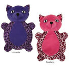 Zanies Vibrant Leopard Cats Dog Toy Squeaker Squeaky Toys Plush
