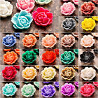 Resin fashion flower flat back fit cabochon setting wholesale 25 color choose