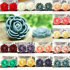 26.5x25mm DIY Resin cameo Rose Flower flatback 14 Colors Cabochons for pendants
