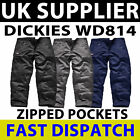 Dickies WD814 WD884 Redhawk Action Workwear Trousers Zipped Button BLACK NAVY GR