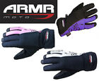 ARMR MOTO LWP-18 LADIES WATERPROOF MOTORBIKE MOTORCYCLE GLOVES PINK OR WHITE