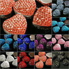 Heart love Resin Cabochons 15pcs 16x16mm Flat back vintage style cameo brandnew