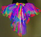 Girls Girl Childrens TuTu Skirt uv Neon Pink Green Purple Blue Dress Up Tu TuTuS