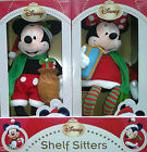 New Disney Mickey Mouse Minnie Mouse Christmas Shelf Sitter Luxury Decoration