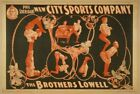 Vintage New City Sports Company Poster CIRCUS1013 Art Print A4 A3 A2 A1
