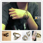 Eagle owl Claw Talon Clamp Finger Ring Bangle Bracelet Cuff Rock Gothic Punk